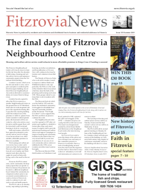 Fitzrovia News, Summer 2019.