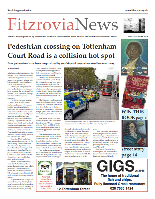 Fitzrovia News, Autumn 2019.
