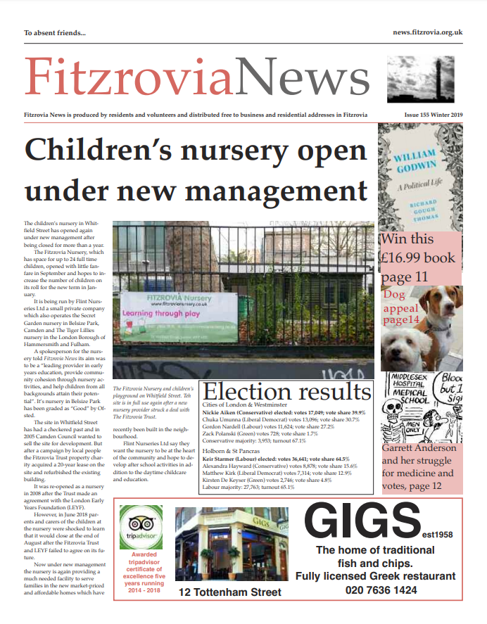 Fitzrovia News, Winter 2019.