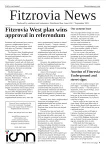 Front page of Fitzrovia News, Autumn 2021.